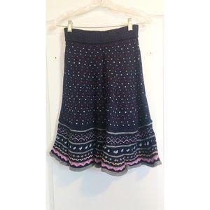 Red Valentino knitted midi skirt